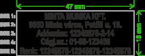 Szövegbélyegző, bélyegző, gumilap, minta, 5 soros, trodat, imprint